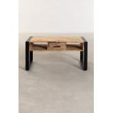 Mesa de centro de madeira reciclada (90x45 cm) Keblar , imagem miniatura 4