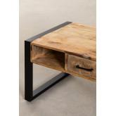 Mesa de centro de madeira reciclada (90x45 cm) Keblar , imagem miniatura 6