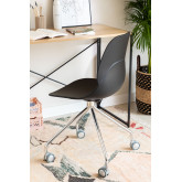 Cadeira de Escritório com Rodas Tech, imagem miniatura 2