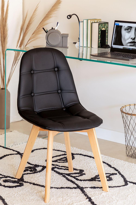 Cadeira de jantar Capitoné Nordic Sk, imagem de galeria 1
