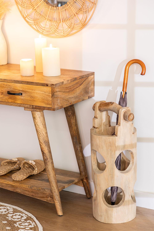 Suporte de guarda-chuva de madeira de teca Dred, imagem de galeria 1056646