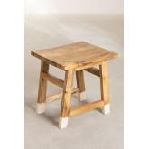 Banqueta baixa de madeira, imagem miniatura 2