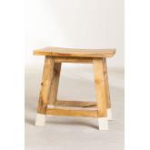 Banqueta baixa de madeira, imagem miniatura 4