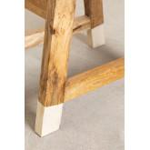 Banqueta baixa de madeira, imagem miniatura 6