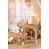 Banqueta baixa de madeira, imagem miniatura 1