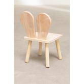 Cadeira de madeira Buny Style Kids, imagem miniatura 4
