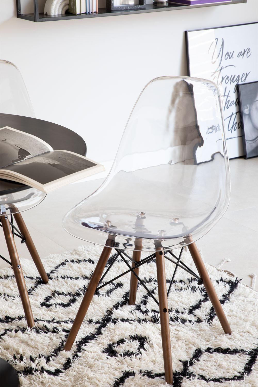 Cadeira Brich Scand Transparente, imagem de galeria 1
