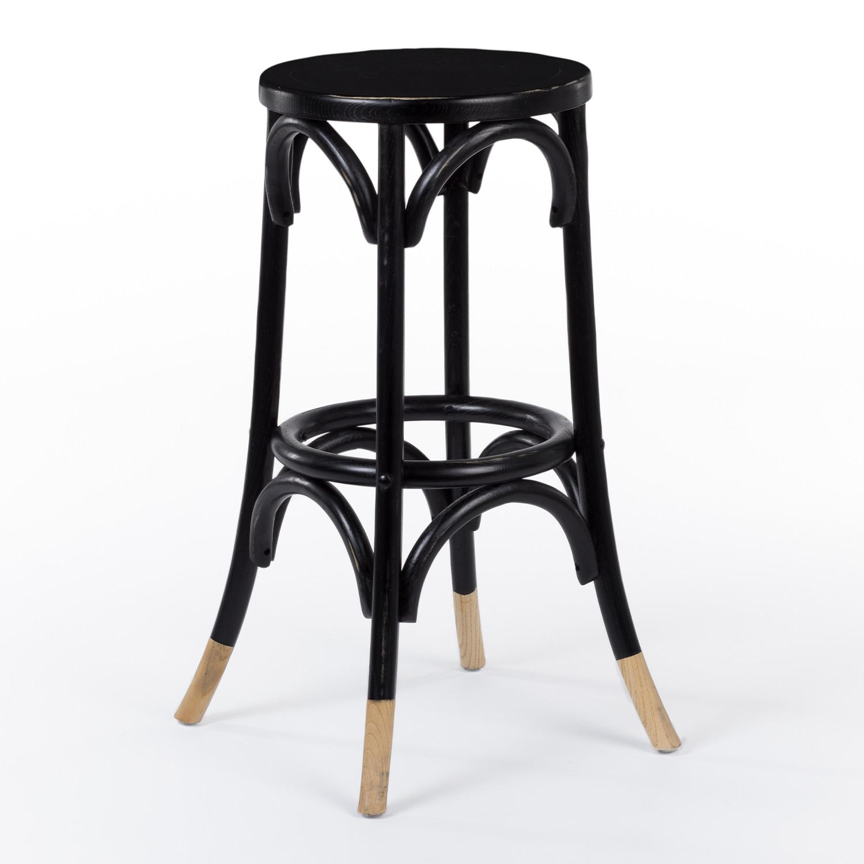 Tamborete alto de madeira Thon Dipeado, imagem de galeria 1