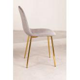 Pacote 4 cadeiras em veludo glamm, imagem miniatura 3