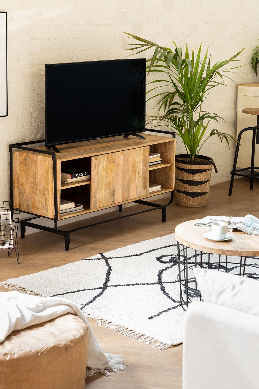 Gabinete de TV Mango Ghertu Wood, imagem de galeria 1