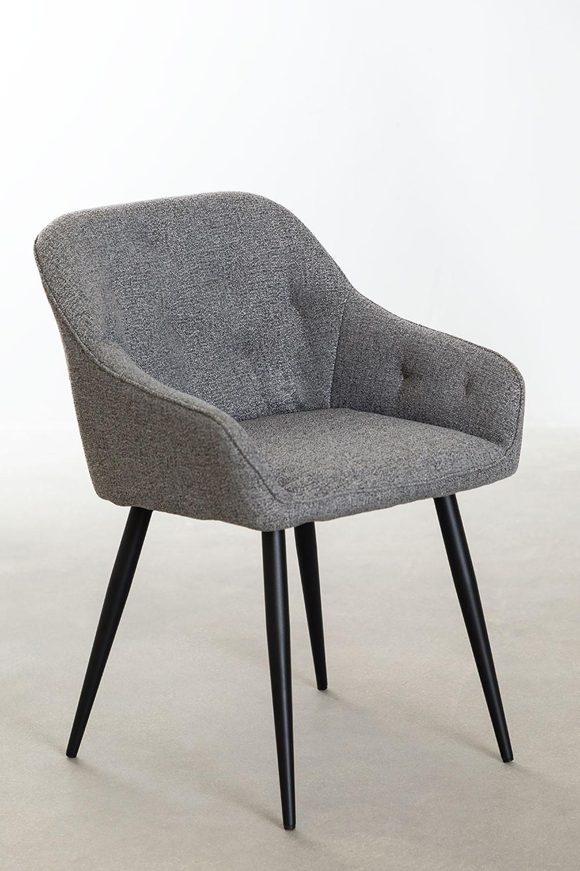 Cadeira de jantar em tecido Zilen, imagem de galeria 1