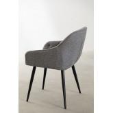 Cadeira de jantar em tecido Zilen, imagem miniatura 3