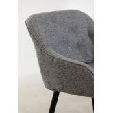 Cadeira de jantar em tecido Zilen, imagem miniatura 4