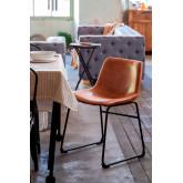 Cadeira Forrada em Pele Sintética Ody , imagem miniatura 1