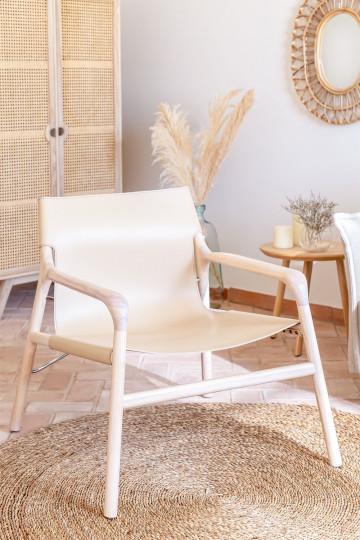 Cadeira Leges de couro sintético com braços