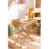 Mesa lateral dobrável Wallis com bandeja em bambu, imagem miniatura 1