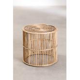 Mesa lateral redonda de bambu Qamish, imagem miniatura 1
