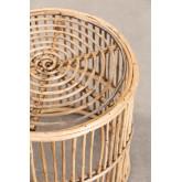 Mesa lateral redonda de bambu Qamish, imagem miniatura 2