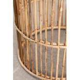 Mesa lateral redonda de bambu Qamish, imagem miniatura 3
