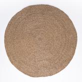 Tapete redondo de juta natural (Ø145 cm) Drak, imagem miniatura 1