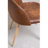 Kana Leatherette Cadeira de jantar estofada, imagem miniatura 4