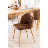 Kana Leatherette Cadeira de jantar estofada, imagem miniatura 1