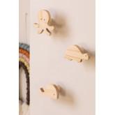 Cabide de parede de madeira Pol Kids, imagem miniatura 1