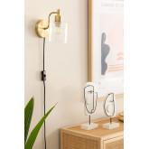Lâmpada de parede ambe para quarto, imagem miniatura 1
