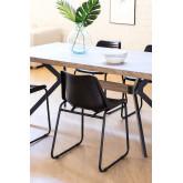 Cadeira de jantar de couro Zekal, imagem miniatura 2
