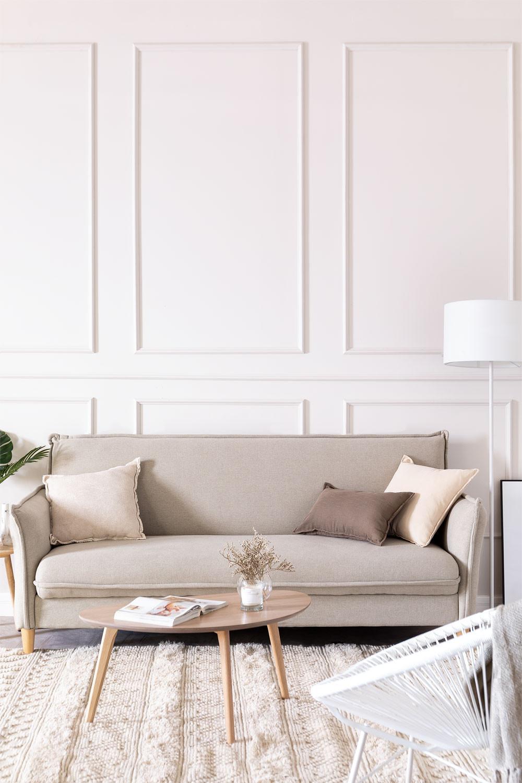 Sofá-cama de 2 lugares em tecido Shung, imagem de galeria 1