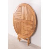 Mesa dobrável para jardim em madeira de teca (Ø100 cm) Pira, imagem miniatura 6