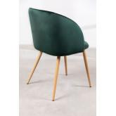 PACK 4 Cadeiras de Sala de Jantar em Veludo com Apoio de braços Kana, imagem miniatura 4