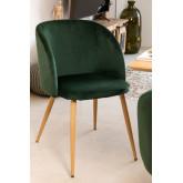 PACK 4 Cadeiras de Sala de Jantar em Veludo com Apoio de braços Kana, imagem miniatura 1