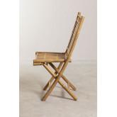 Cadeira de jantar dobrável de bambu Yakku, imagem miniatura 3