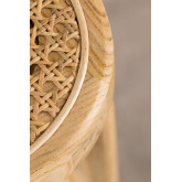 Banquinho alto Sharla Wood e Rattan, imagem miniatura 6