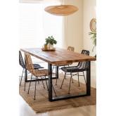 Mesa de jantar de madeira reciclada Milet, imagem miniatura 1