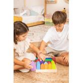 Puzzle de madeira para crianças da cidade, imagem miniatura 1