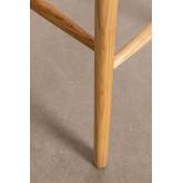 Banquinho alto em madeira natural Lorri, imagem miniatura 6