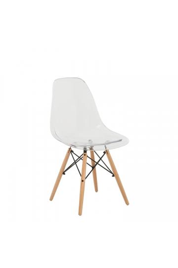 Cadeira Brich Scand Transparente
