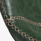 Banquinho médio em couro Ody, imagem miniatura 4