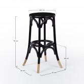 Tamborete alto de madeira Thon Dipeado, imagem miniatura 6