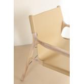 Cadeira Leges de couro sintético com braços, imagem miniatura 4