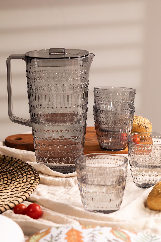 Conjunto de 1 jarro 2L e 4 copos Brandon, imagem de galeria 1