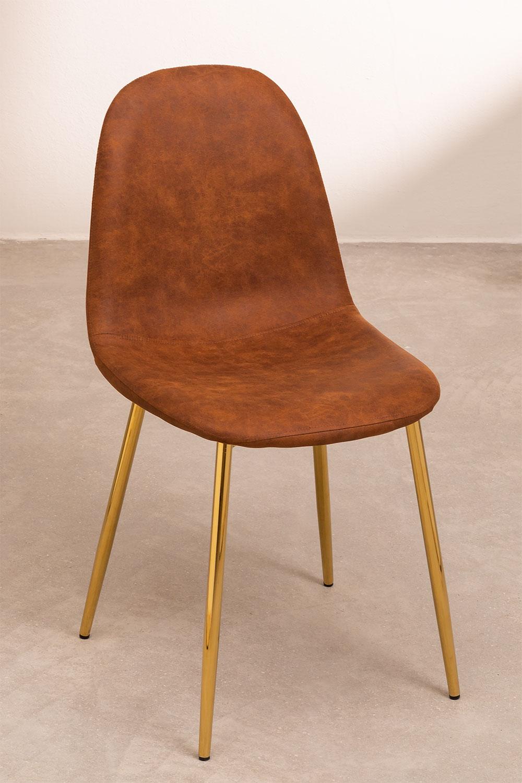 Cadeira em Couro Sintético Glamm, imagem de galeria 1
