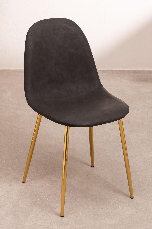 PACK 2 Cadeiras em Couro Sintético Glamm, imagem de galeria 1