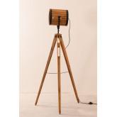 Candeeiro de pé de tripé de bambu, imagem miniatura 3