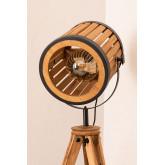 Candeeiro de pé de tripé de bambu, imagem miniatura 5