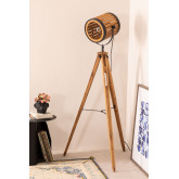 Candeeiro de pé de tripé de bambu, imagem miniatura 1