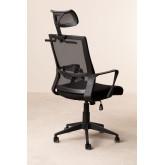 Cadeira de Escritório com Rodas e com Apoio de Cabeça Teill Black , imagem miniatura 4