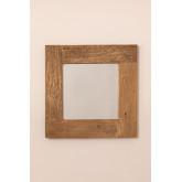 Espelho de parede em madeira reciclada (50x50 cm) Taipu, imagem miniatura 3